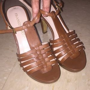 Very cute Frank Sarto Brown heels 6